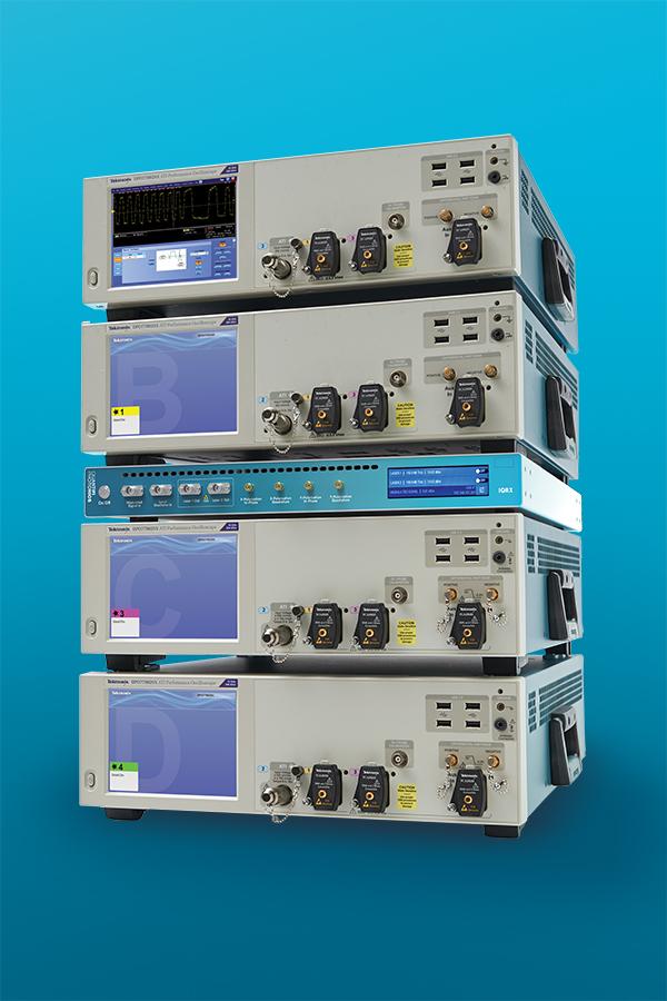 Quantifi Photonics and Tek OMA Optical Modulation Analyzer system for coherent communications