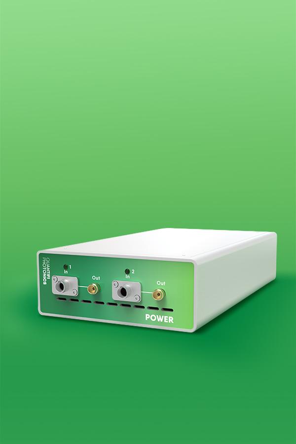 Quantifi Photonics benchtop optical power meter with analog output