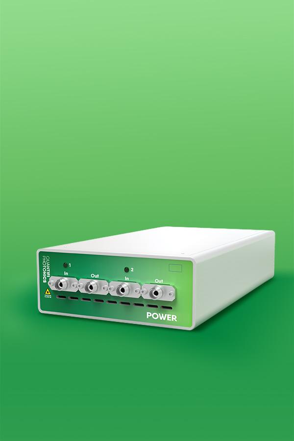 Quantifi Photonics benchtop inline optical power meter